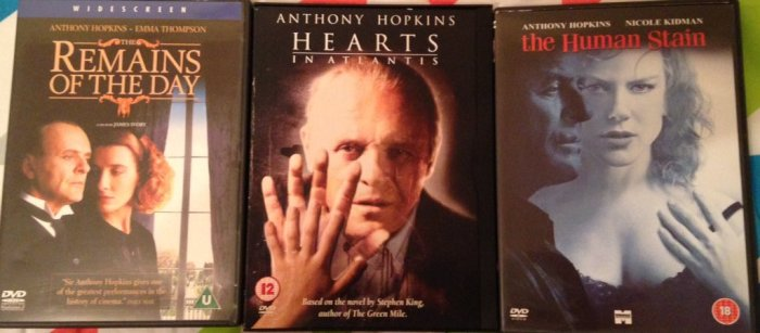 Round 254 - Anthony Hopkins Films Based On Novels - @RichardMovieFan